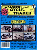 WALNECK S CLASSIC CYCLE TRADER  APRIL 1990