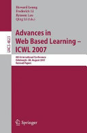 Advances in Web Based Learning   ICWL 2007
