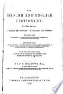 New Spanish and English Dictionary