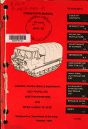 Operator s Manual  Carrier  Guided Missile Equipment  Self propelled