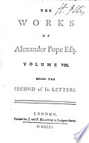The Works of Alexander Pope: Letters