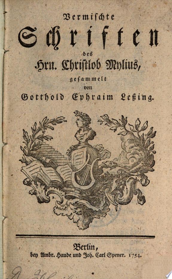 Vermischte Schriften gesammelt von