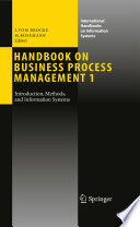 Handbook on Business Process Management 1 Book