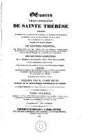 Oeuvres tres-completes de Sainte Thérèsie