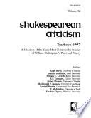Shakespearean Criticism Yearbook