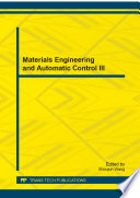 Materials Engineering and Automatic Control III