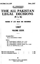 The All Pakistan Legal Decisions Book