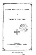 Short and simple forms of family prayer