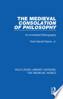 The Medieval Consolation of Philosophy