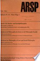 Archiv fur Rechts- und Sozialphilosophie