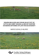 Grazing behavior and forage selectivity of cattle and sheep grazing alone or together on swards differing in plant species diversity