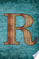 Monogrammed Notebook - R