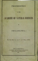 Pdf Proceedings of The Academy of Natural Sciences (No. 2 -- Mar., April and May, 1868) Telecharger