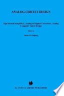 Analog Circuit Design Book