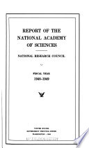 Report of the National Academy of Sciences. 1948/49-1953/54 | publ. 1950-58
