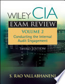 Wiley CIA Exam Review  Conducting the Internal Audit Engagement