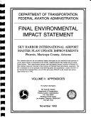 Sky Harbor International Airport, Master Plan Update Improvements