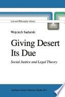 Giving Desert Its Due