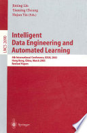 Intelligent Data Engineering And Automated Learning Book PDF