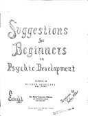 Suggestions for Beginners in Psychic Development