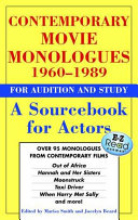 Contemporary Movie Monologues 1960 1989 Book PDF