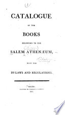 Catalogue Of The Library Of The Athenaeum In Salem Massachusetts