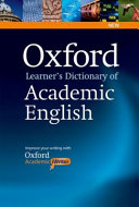 Cover of Oxford Learner's Dictionary of Academic English