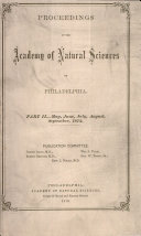 Pdf Proceedings of The Academy of Natural Sciences (Part II -- May, June, July, Aug., Sept. 1872) Telecharger
