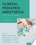 Clinical Pediatric Anesthesia
