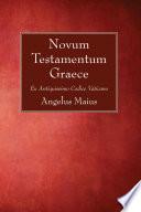 Novum Testamentum Graece Book