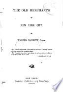 The Old Merchants of New York City