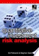 Quantitative Investment Risk Analysis