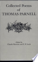 Thomas Parnell Books, Thomas Parnell poetry book