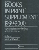 Books In Print Supplement 1999 2000