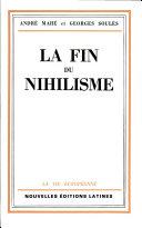 Pdf La Fin du Nihilisme Par Andre Mahe Telecharger