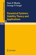 Dynamical Systems  Stability Theory and Applications