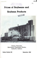 Prices of Soybeans and Soybean Products