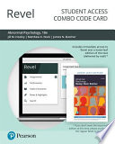 Revel for Abnormal Psychology -- Combo Access Card