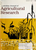 Australian Journal of Agricultural Research ebook