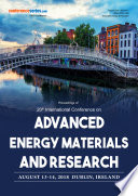 Proceedings of 20th International Conference on Advanced Energy Materials and Research 2018