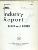 Industry Report  Pulp and Paper