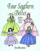 Four Southern Belles Sticker Paper Dolls