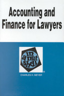 Accounting and Finance for Lawyers in a Nutshell