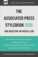 The Associated Press Stylebook 2020