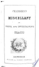 Chambers s Miscellany of Useful and Entertaining Tracts Book