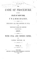 The Code of Procedure of the State of New York, Unabridged