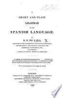 Short and Plain Grammar of the Spanish Language