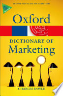 A Dictionary of Marketing Book