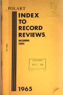 Polart Index To Record Reviews