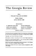 The Georgia Review Book